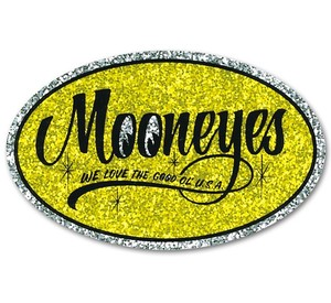 MOONEYES Oval Sticker [ DM168YE ]
