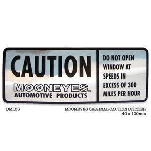 MOONEYES CAUTION STICKER