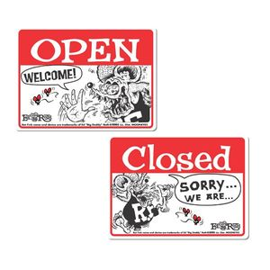 Rat Fink Sign Board Open & Closed [ RAF231 ]