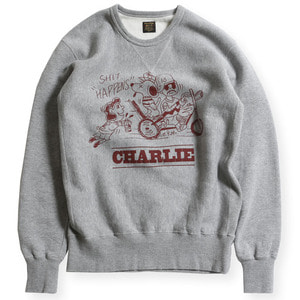 CLOUD FRONT-V CREW NECK SWEATER