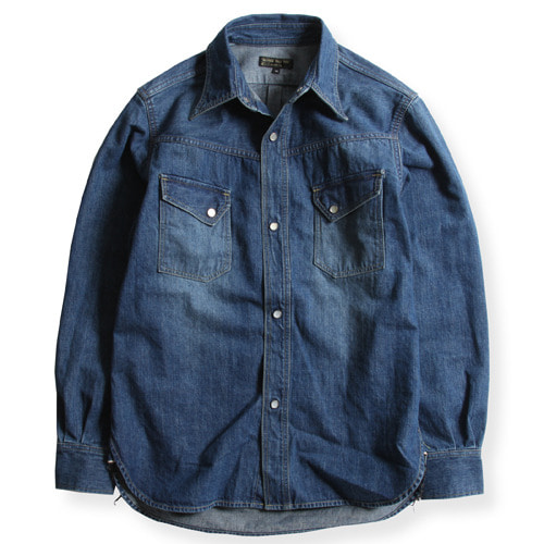 WR3001 WESTERN SHIRTS (USED WASHING DENIM)