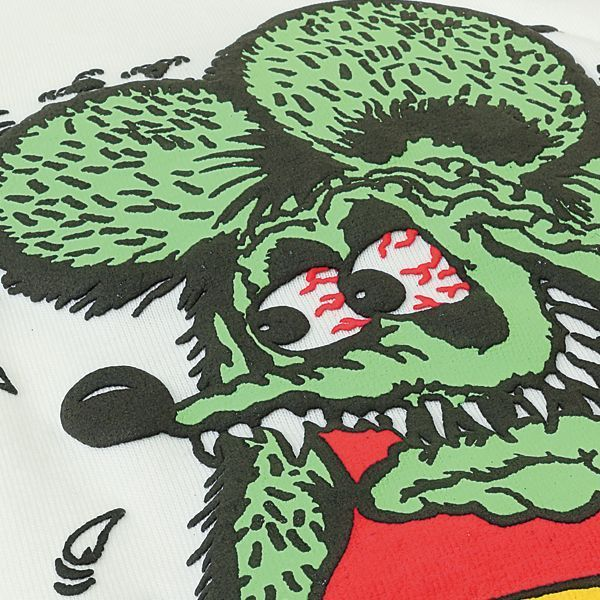 Rat Fink Foaming T-Shirt [ RITKF082WH ]